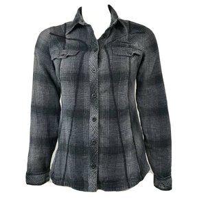COLUMBIA Gray Plaid Button Down Shirt S
